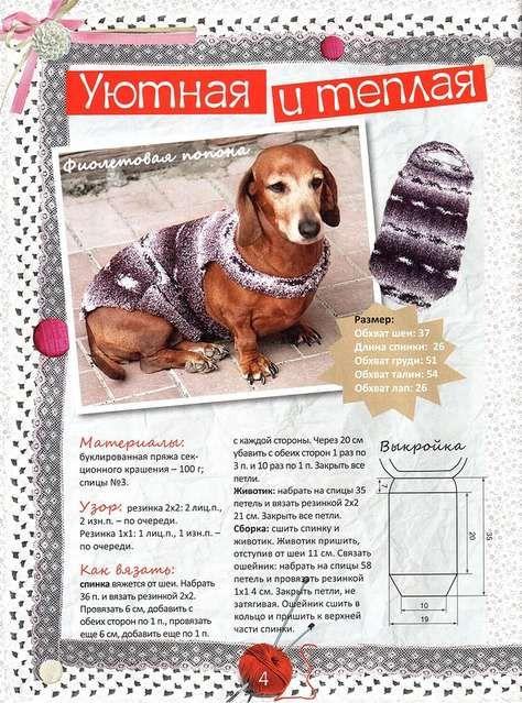 вязание для собак чихуахуа схемы и модели с описанием 14 тыс