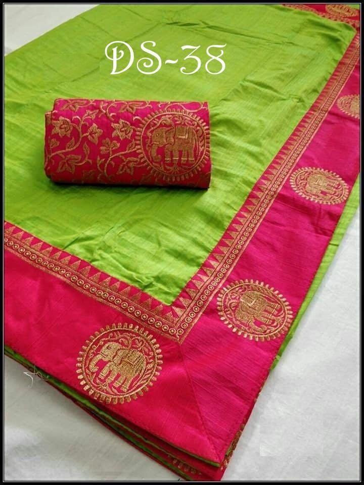 b99a7aa4c737e Buy Parrot Color Sana Silk Saree