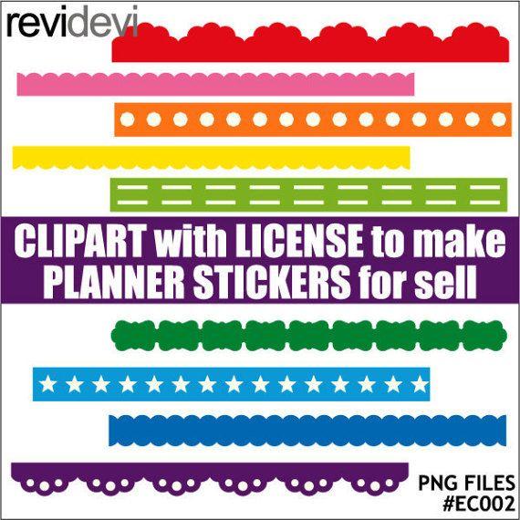 Commercial clip art for making printable planner by revidevi