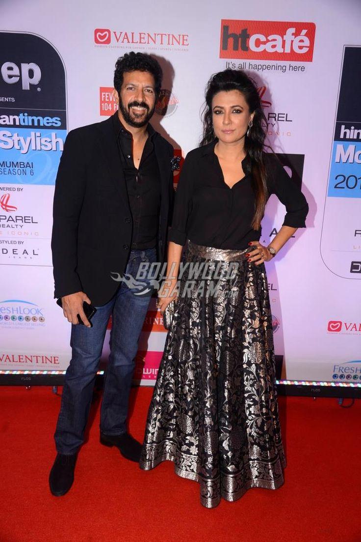 Kabir Khan and Mini Mathur at HT Most Stylish Awards 2017 red carpet.