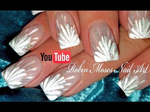 No Water Needed - DIY White Starburst Drag Marble nail art Tutorial - YouTube