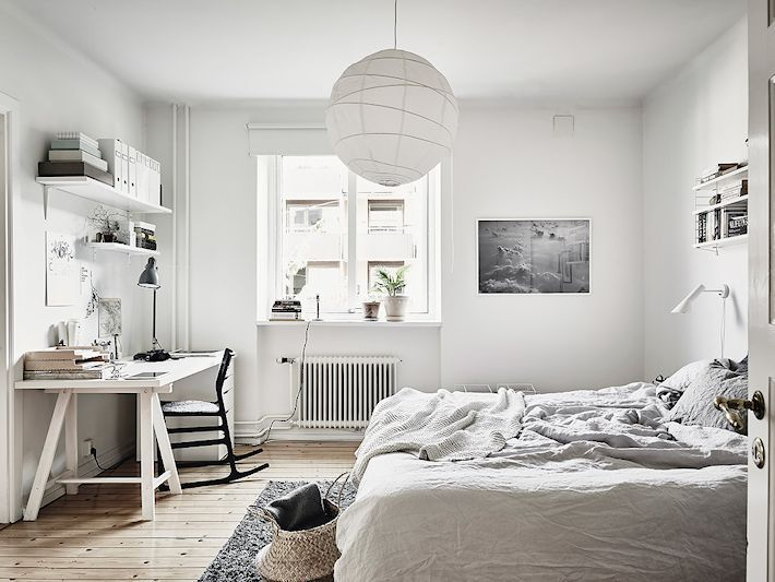 Apartamento nórdico moderno con paredes de ladrillo visto 15