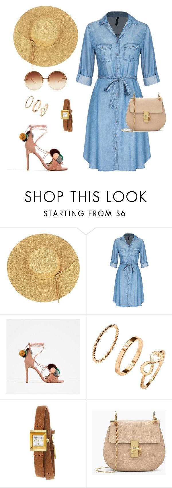 """summer look"" by ya-irishka on Polyvore featuring мода, Piel Leather, H&M, Gucci и Linda Farrow"