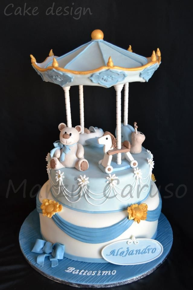Carousel Baby Shower Cakes