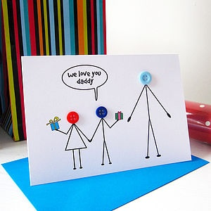 'We Love You Daddy' Fathers Day Card - father's day cards