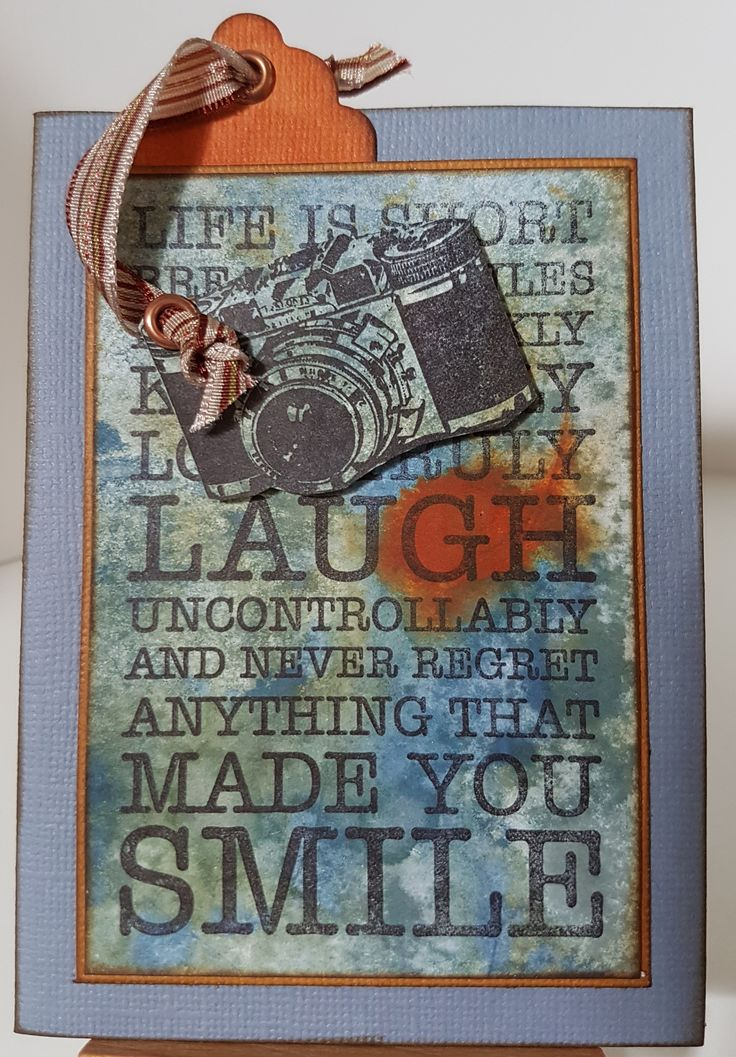 Camera 4747D & Made you Smile 4778E by Stamp-it Australia. Card by Susan of Art Attic Studio