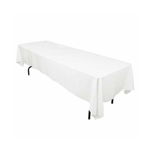 LinenTablecloth 60 x 126-Inch Rectangular Polyester Tablecloth White