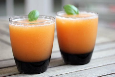 Frozen peach margaritas