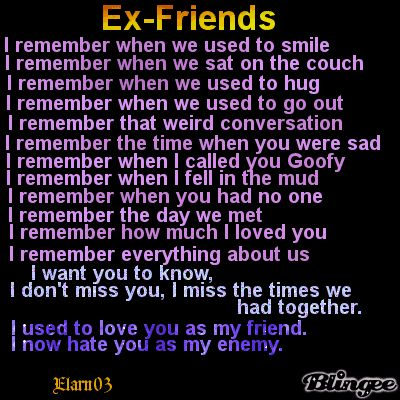 Love it :) except the last part I still love you I will never hate you, deep in my heart you still my BFF:)