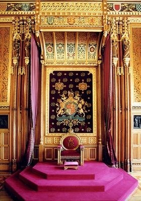 Throne in the Robing Room Royal Palace of Westminster ...