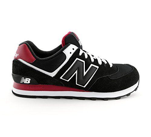 new balance ml 574 cpa black red