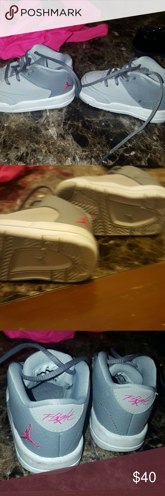 Pink grey tennis shoes infant size 4c Pink grey tennis shoes infant size 4c Jordan Shoes Sneakers