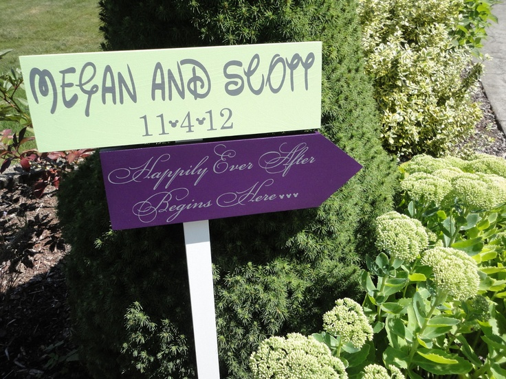 Wedding Signs, Mickey Themed for your Fairy Tale Wedding,