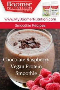 Chocolate Raspberry Vegan Protein Smoothie_Pin