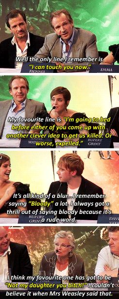"""The cast of """"Harry Potter""""'s favorite lines"""