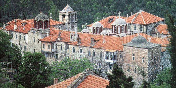 VISIT GREECE  Monastery of Konstamonitou in #Athos #Macedonia #Greece