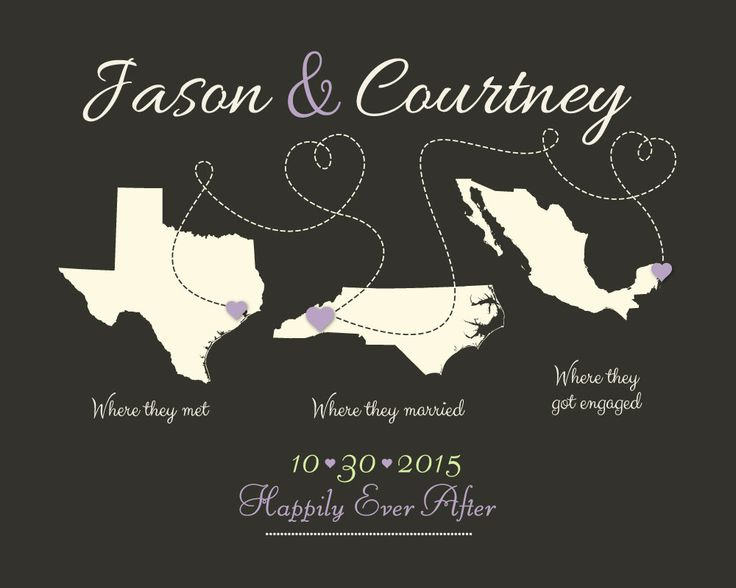 Mejores 27 imgenes de wedding maps en pinterest mapas de boda wedding guest book alternative his hers gift personalized present for bride and groom gumiabroncs Image collections