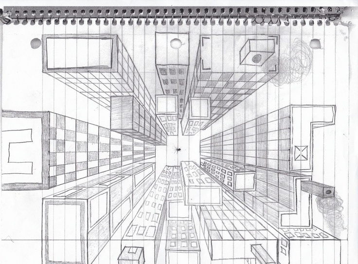 Best One Point Images On Pinterest Perspective Drawing Art