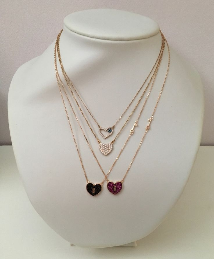 For valentine's day...heart necklaces from silver925o. For further information visit us at: https://www.instagram.com/papanikolaou_maria_creations/
