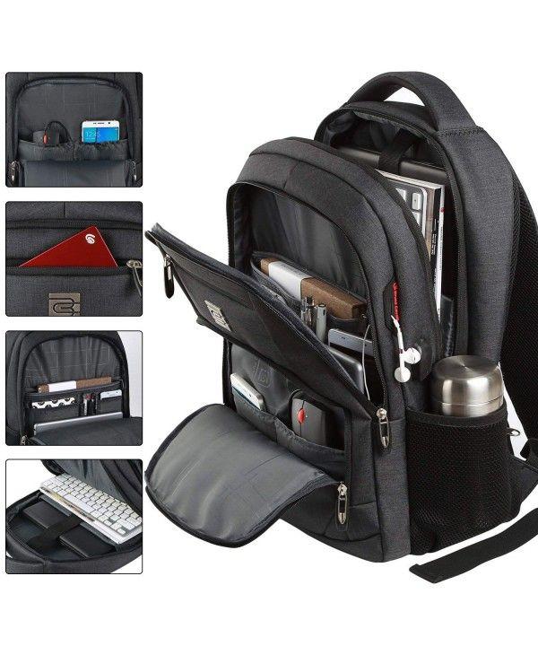 Men Anti-Thief 15.6/'/' Laptop Backpack Waterproof USB Travel School Computer Bag