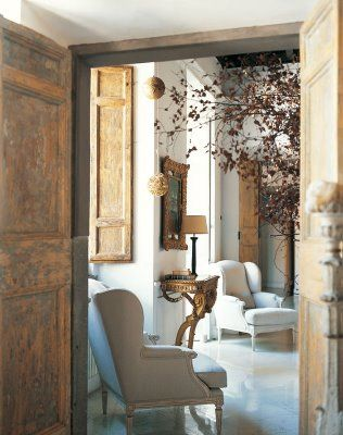 In a building that dates back to 1720, an apartment in Rome gets restored with a touch of Paris. This home featured in Marie Claire Italia,Doors, Decor, Interiors Design Offices, Offices Design, Design Interiors, Architecture Interiors, Hotels Interiors, Living Room, Design Bedrooms