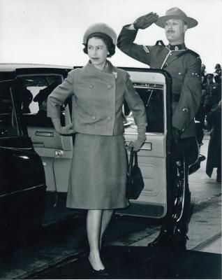 Queen Elizabeth II visits Canada, 1964. Randall House Museum collection, Wolfville