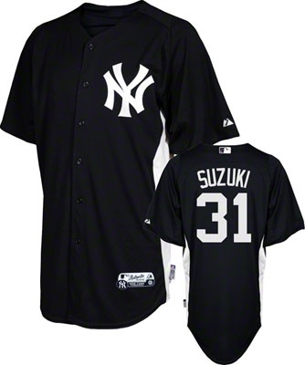 3ed6e9e51 ... Ichiro Suzuki Jersey Adult Majestic NavyWhite Authentic Cool Base™ New  York Yankees ...