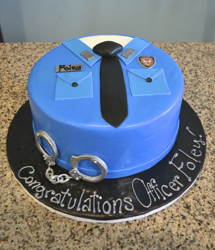 Handcuffs and A Badge! Cool Police Academy Cake by Sugarland!