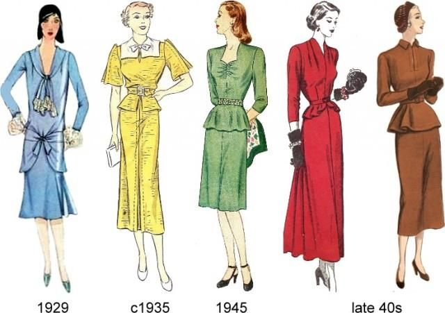 Женский костюм 50 х годов