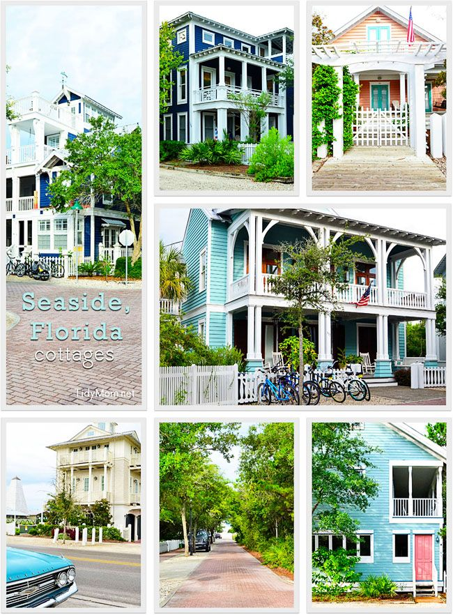 Gorgeous Seaside, Florida cottages.  Learn more at TidyMom.net