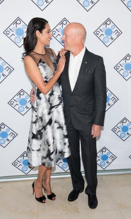 Growing closer! Bruce Willis and Emma Heming made for a beautiful couple at the 2017 Room To Grow Spring Benefit at Guastavino's in New York City.