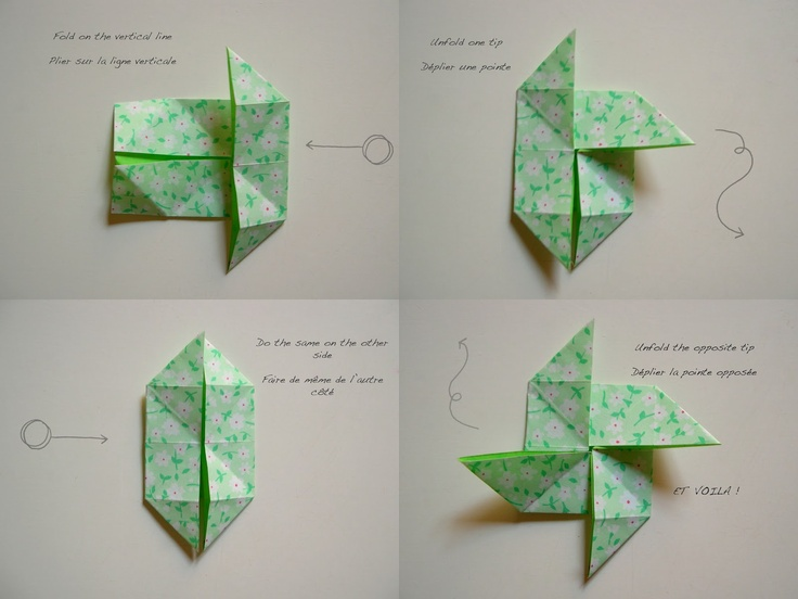 Monday DIY #1: origami windmills and masking tape flags