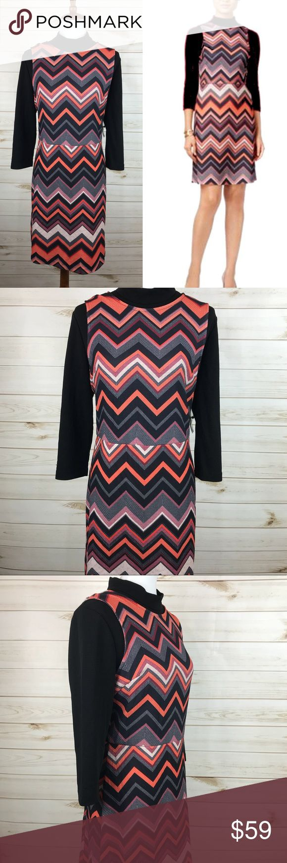 ECI New York Chevron Dress NWT - Black/Orange Never Worn Dress - Great Condition ECI Dresses
