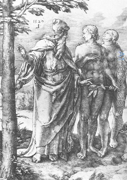 Adam and Eve (Expulsion from the Paradise) 1510 by Lucas Van Leyden. The Lucas Van Leyden