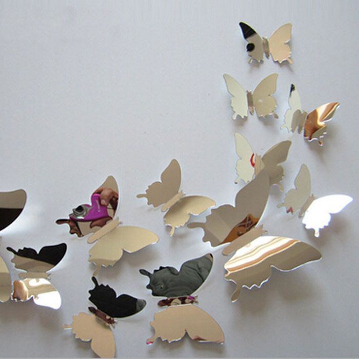 Cheap silver butterflies, Buy Quality silver butterfly ring directly from China butterfly silver Suppliers:             New 12Pcs/Lot Vinyl 3D Blue Butterflies For Wall Art Decal Removable Home Decoration DIY Beautiful Wall Stci