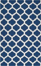 On Sale Mediterranean Blue and White Trellis Frontier Rug - 5 x 8 Feet