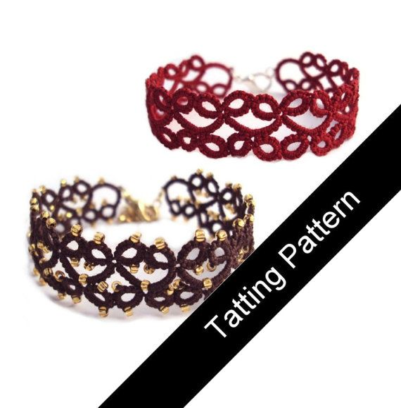 PDF Tatting Pattern Lillian Bracelet, With and Without Beads - Intermediate via Etsy