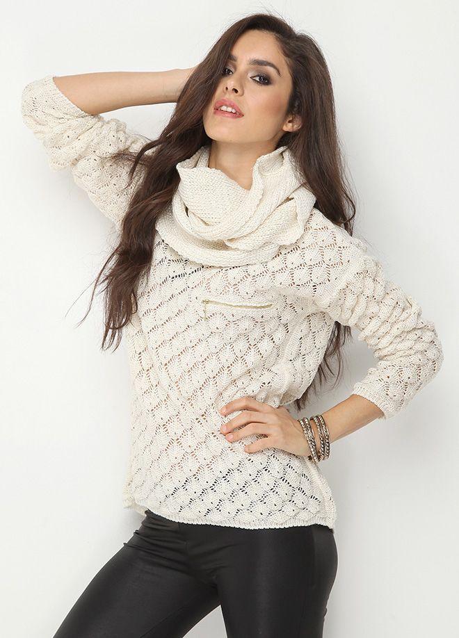 SATEEN Life Triko Markafoni'de 59,99 TL yerine 29,99 TL! Satın almak için: http://www.markafoni.com/product/5401490/ #kazak #sweatshirt #winter #fashion #moda #white #beyaz