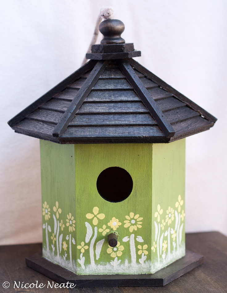 Painted Birdhouse I made for Motheru0027s Day