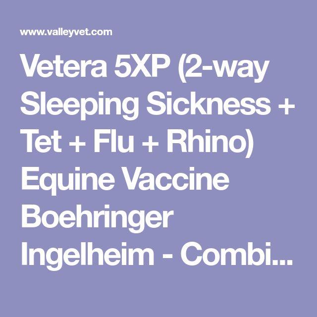 Vetera 5XP (2-way Sleeping Sickness + Tet + Flu + Rhino) Equine Vaccine Boehringer Ingelheim - Combi $31