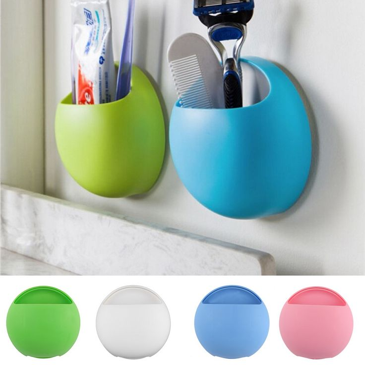 Toothbrush Holder Bathroom Kitchen Family Toothbrush Suction Cups Holder Wall Stand Hook Cups Organizer Wholesale alishoppbrasil