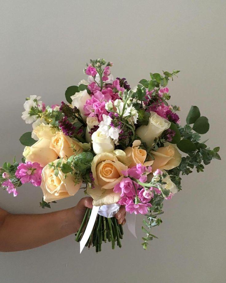 CBR429 Weddings riviera maya lilac, peach and white color flowers for bouquet/ ramo de novia con flores lilas blancas y durazno