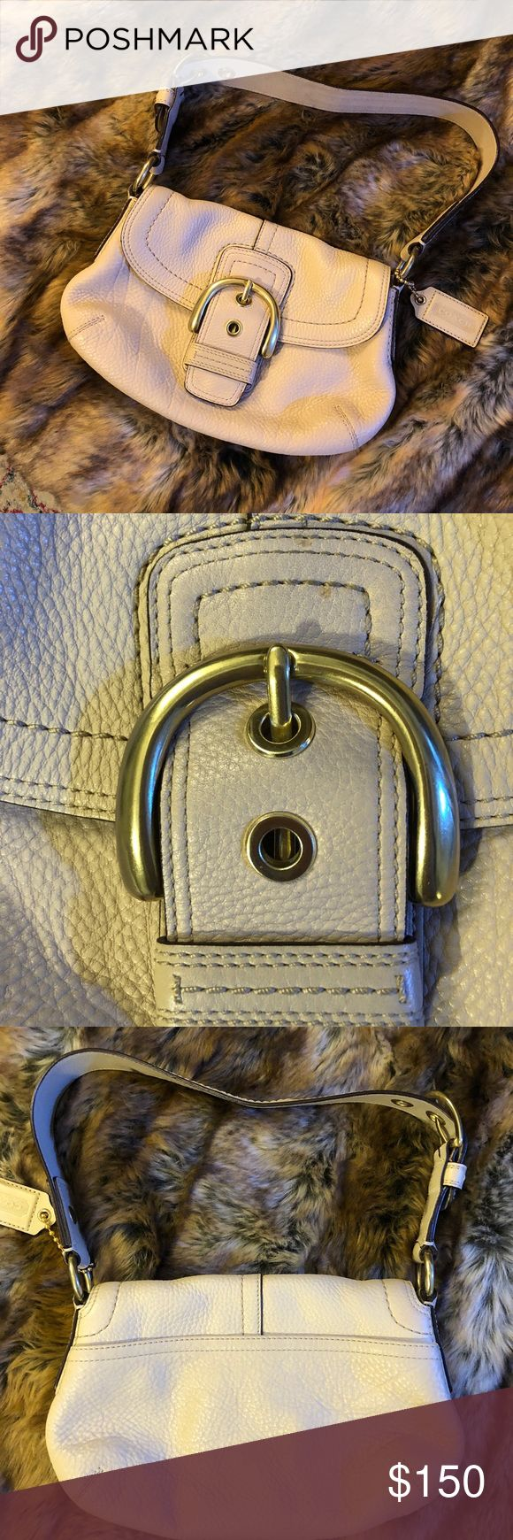 Coach Small Leather Satchel Tan leather - near perfect condition!  Let me know if you would like different pictures or have questions! 🤗 Coach Bags Shoulder Bags