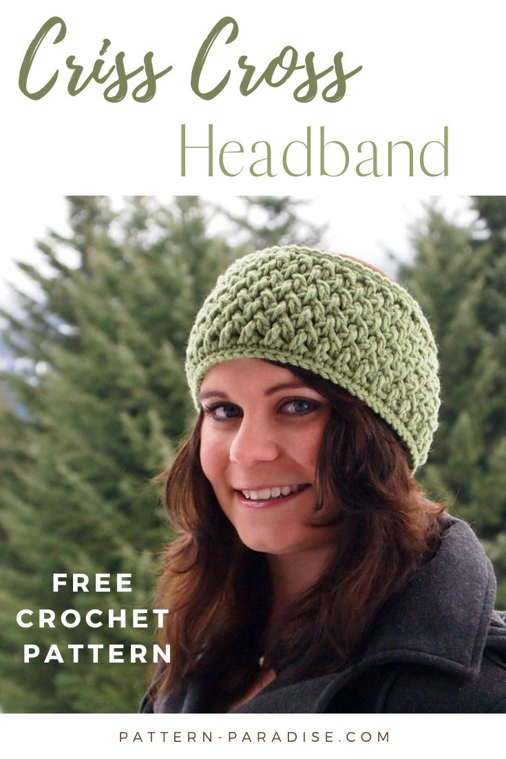 Criss Cross Headband pattern by Maria Bittner – Crochet I love