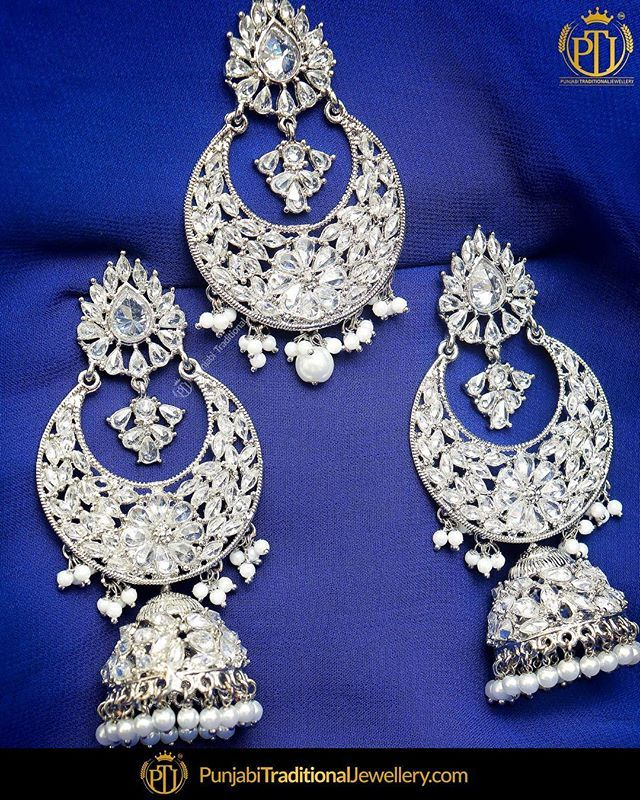 daa5114c0 featured:- Silver Polki Earrings & Tika Set Shop our latest collection  at our