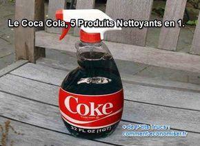 On vous l'avait dit dans un précédent article : le Coca-Cola, c'est pas terrible pour la santé. Donc, plutôt que d'en boire, utilisez-le comme produit nettoyant, c'est super efficace. Voici mes 5 trucs de grand-mère pour mettre le Coca-Cola à profit.  Découvrez l'astuce ici : http://www.comment-economiser.fr/produit-nettoyant.html?utm_content=buffercc926&utm_medium=social&utm_source=pinterest.com&utm_campaign=buffer