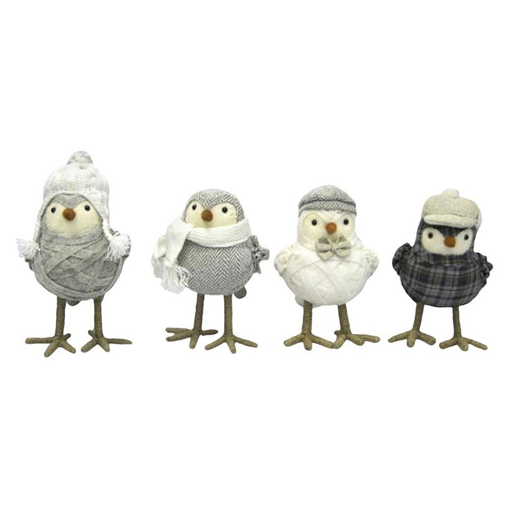 Bundled Up Holiday Decor Birds - Assorted Styles. These are very cute. I got the second one .