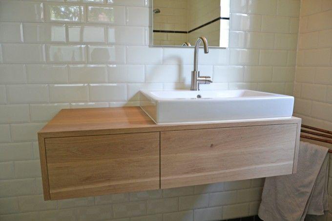 massief houten badkamermeubel