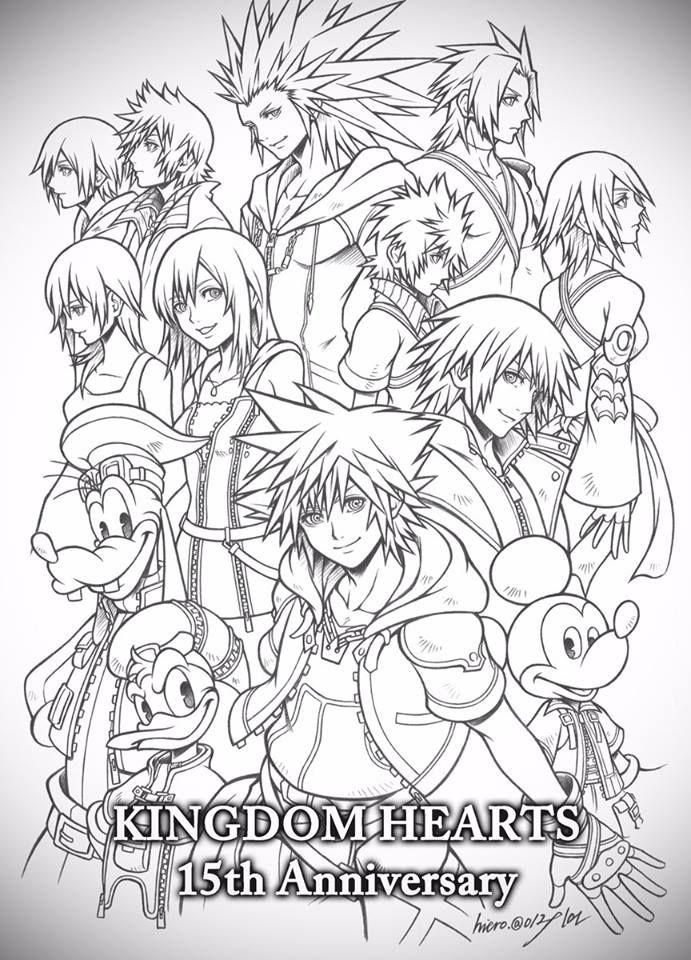 The Whole Gang Kingdom Hearts Art Kingdom Hearts Games Kingdom Hearts