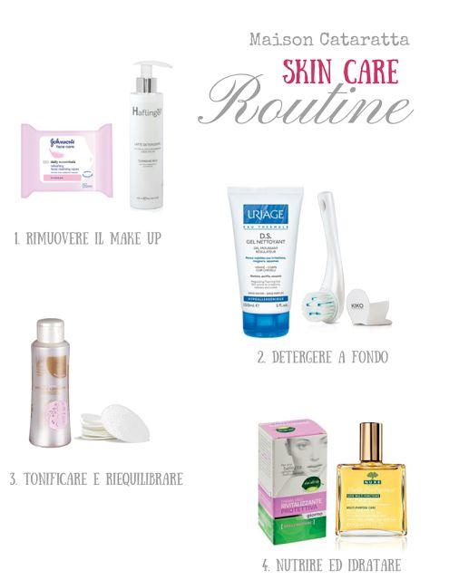skin care routine Maison Cataratta beautiful skin